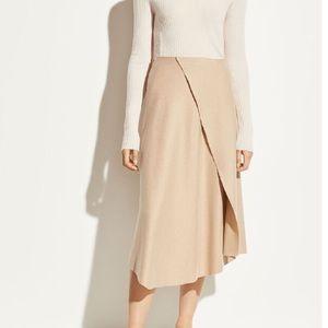 VINCE.  Asymmetric Drape Flannel Skirt